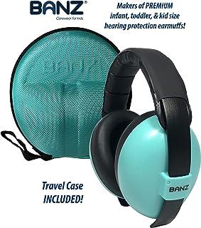 Banz Baby Earmuffs & Earmuff Case, Aqua