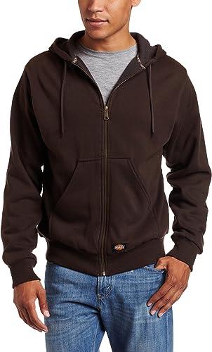Dickies - - Tw382 thermique doublée Veste à capuche en molleton, X-Tall, Dark marron