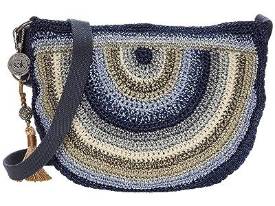The Sak Ryder Crochet Crescent Crossbody (Indigo Stripe) Handbags