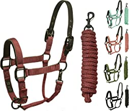 Derby Originals Blackout Stable & Breakaway Reflective Safety Horse Halters with Matching Lead & One Year Warranty, Miniat...
