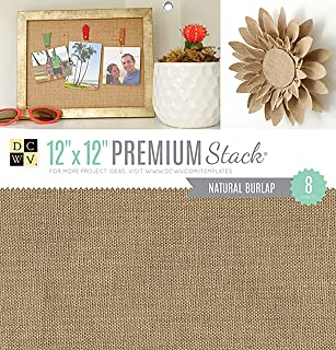 DCWVE Die Cuts with A View Specialty Cardstock Stack-12 x 12-Natural Burlap-8 Seat PS-010-00043