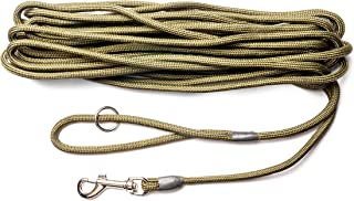 Dog & Field 2in1 30 Foot Training/Exercise Dog Leash - Super Soft Braided Nylon
