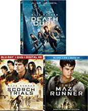 Every Maze Has an End The Runner Saga part 1/2/3 & Maze Runner: The Scorch Trials Blu Ray + DVD Movie Trilogy [Includes Digital Copy] + Death Cure Triple Feature Saga