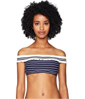 Jonathan Simkhai - Rib Knit Trim Off Shoulder Bikini Top