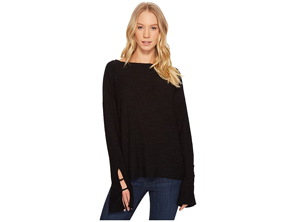 Project Social T Stevie Bell Sleeve Top (Black) Women's Long Sleeve Pullover
