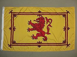 Scottish Rampant Lion Scotland Indoor Outdoor Dyed Nylon Flag Grommets 3` X 5`