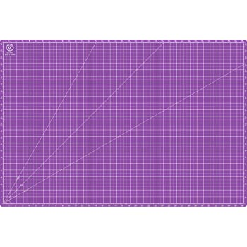 """KC GLOBAL A1 (38""""x26"""") Professional Grade Self-Healing Cutting Mat (Purple) - Odor-Free, Reversible, Eco-Friendly, Durable Bright Surface. Premium Desk Mat for Crafters, Quilters, and Hobbyist"""