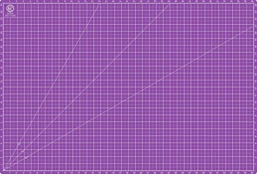 "KC GLOBAL A1 (38""x26"") Professional Grade Self-Healing Cutting Mat (Purple) - Odor-Free, Reversible, Eco-Friendly, Du..."
