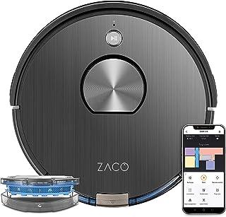 ZACO A10 robotstofzuiger met dweilfunctie (nieuw 2021), 360° lasernavigatie, Alexa & Google Home-bediening, mapping, no-go...