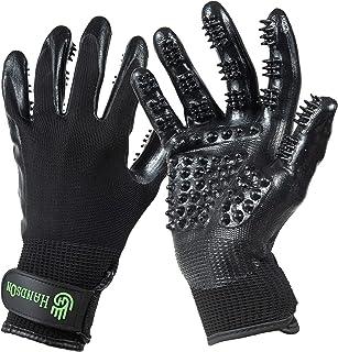 (Small, Black) - 1 Ranked, Award Winning HandsOn Gloves for Shedding, Bathing, Grooming, De-Shedding Horses/Dogs/Cats/Live...