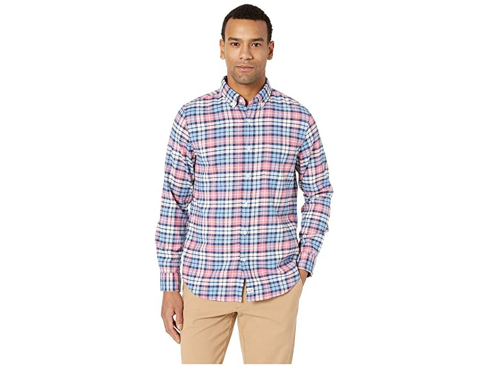 Vineyard Vines Marine Plaid Slim Murray Shirt (Lobster Reef) Men