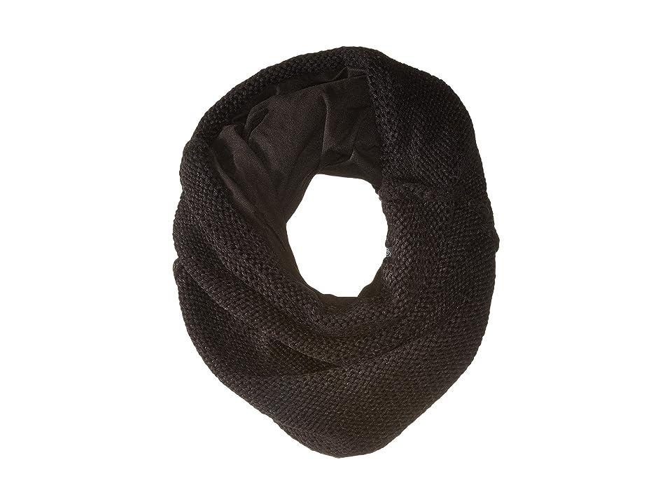 Plush Fleece-Lined Chunky Knit Neck Warmer (Black) Scarves