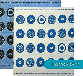Skoy SK108 Swedish Dishcloth, Large (2-Pack), Blue/White
