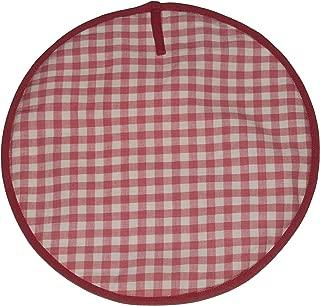 Sterck Cotton Round Checked Gingham Ziro Cook Aga Pads in Pink RNDPADZPI