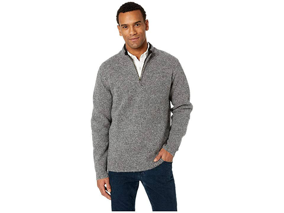 Pendleton Shetland 1/2 Zip Sweater (Pepper Marl) Men