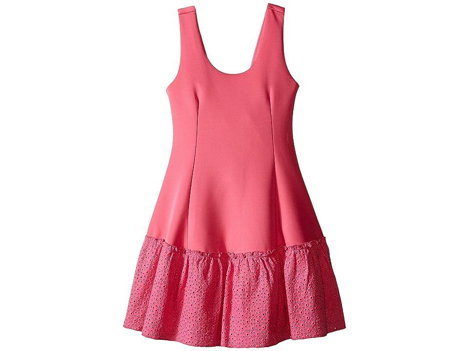 Ella Moss Girl Anneka Drop Waist Tulip Dress (Big Kids) (Pink) Girl