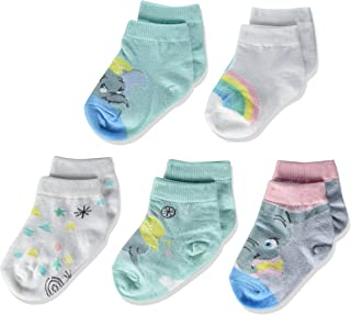 Dumbo Baby 5 Pack Shorty Socks, Assorted Pastel, 12-24 Months