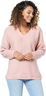 French Connection Women's Ribbed V Neck Knit