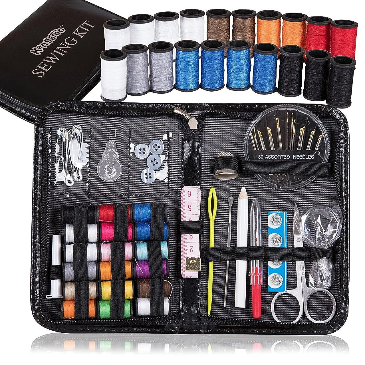 Kangaroo's Professional Sewing Kit - Over 95 Items; Travel Sewing Kit