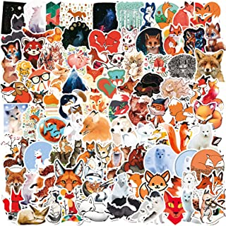101PCS Fox Stickers Bottle Stickers Vinyl Stickers Waterproof DIY Decoration Suitable for Boys and Girls to Teen