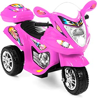 Best Choice Products 6V Kids Battery Powered 3-Wheel Motorcycle Ride On Toy w/ LED..
