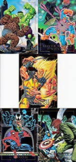 MARVEL MASTERPIECES 1992 SKYBOX COMPLETE DYNA ETCH INSERT CHASE CARD SET 1-D - 5-D