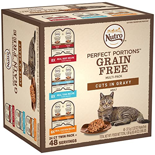 NUTRO Perfect PORTIONS Grain Free Cuts in Gravy Wet Cat Food