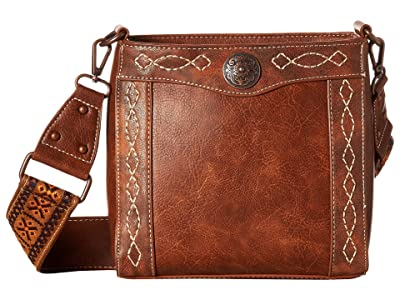 M&F Western Ivy Crossbody (Tan) Cross Body Handbags