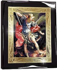 Framed Saint Michael The Archangel I (10