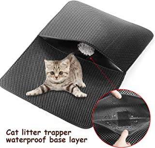 Bobochom Large Cat Litter Trapper Mat Tested & Proven to Save on Cleanup Best Catcher to Trap Litter from The Pet Kitty Box Liner Also Waterproof Puppy Pad