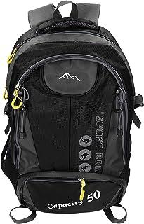 Mochila Unisex para Viaje Senderismo Camping Tiempo Libre Capacity II con 3 Bolsillos Volumen de 28 litros Color Negro