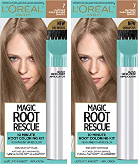 L'Oreal Paris Magic Root Rescue 10 Minute Root Hair Coloring Kit, Permanent Hair Color with Quick Precision Applicator, 10...