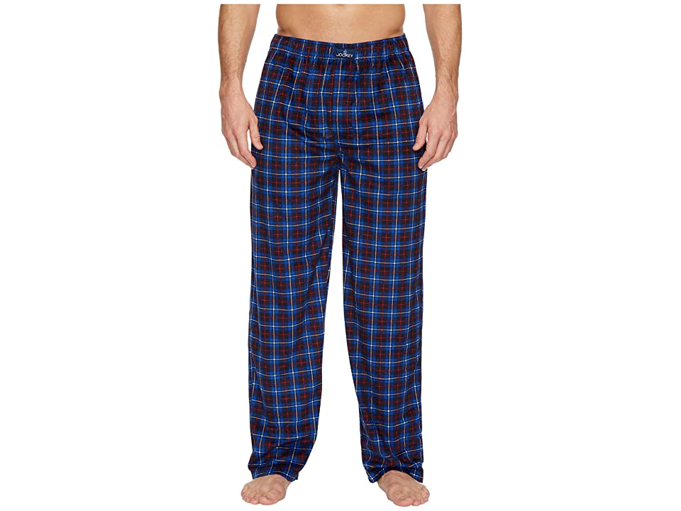 Jockey Matte Silky Fleece Pants (Balue Plaid) Men