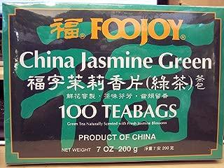 Foojoy Jasmine Green Tea, 7oz 100 Individually Wrapped Teabags