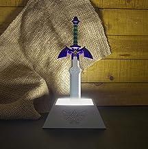 The Legend of Zelda Lamp Master Sword zilvergrijs, schacht meerkleurig, werkt op batterijen of USB-aansluiting, in geschen...