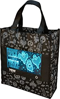 YEW Stuff POP Lights: Halloween Bag for Kids, Candy Bag, Trick or Treat Bag, Halloween Bags with Removable LED Light (Ghostly Graveyard)