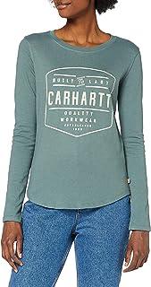 Carhartt Women's Lockhart Graphic Long-Sleeve T-Shirt, Balsam Green, M