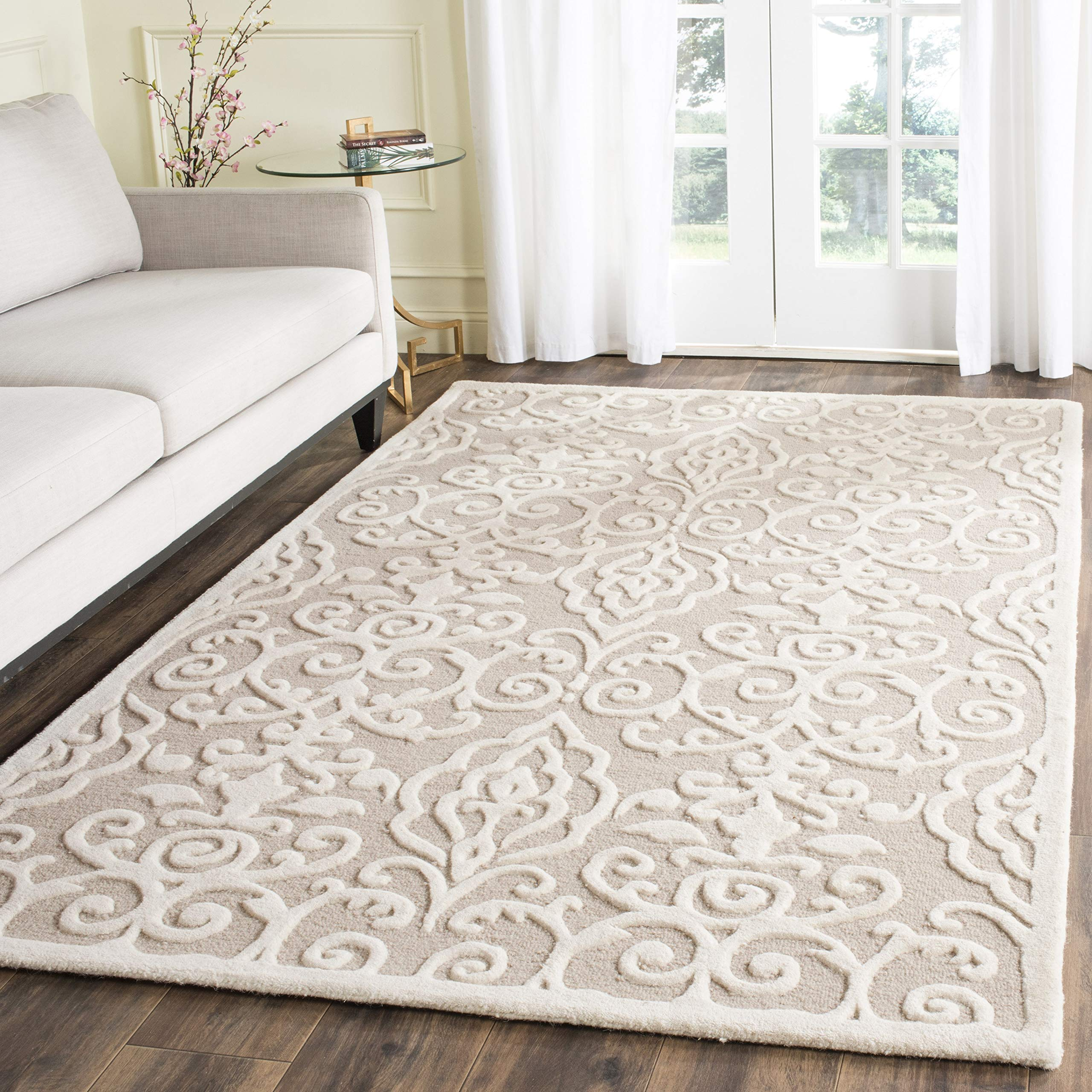 Amazon Com Safavieh Martha Stewart Collection Msr4324b Handmade Marais Wool Area Rug 5 X 8 Fledgling Furniture Decor