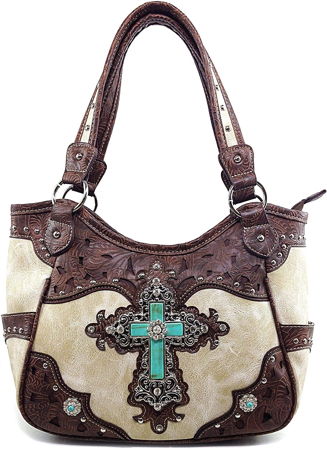 Zelris Turquoise Stone Ranking TOP16 Cross Western Conceal Tote Women Carry Ranking TOP12 Ha