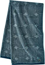 Lacoste Geo Compass Towels, 30x54, Dark Teal