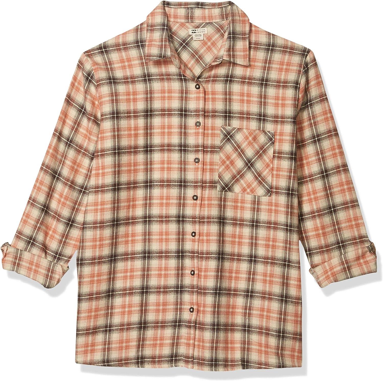 Billabong Women's Easy Movin 2 Shirt 1 year warranty Over item handling Button Up