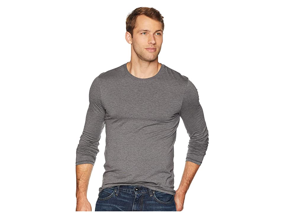 Toad&Co Tempo Long Sleeve Tee (Charcoal Heather) Men