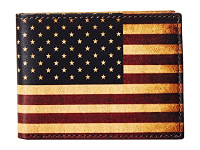 M&F Western Vintage USA Flag Bifold Wallet (Multi) Wallet Handbags