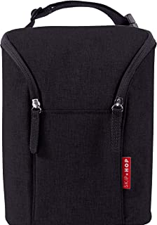 Skip Hop Insulated Breastmilk Cooler And Double Baby Bottle Bag, Black