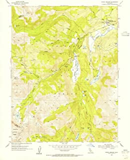 California Maps - 1954 Pickel Meadow, CA USGS Historical Topographic Map - Cartography Wall Art - 35in x 44in