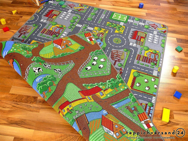 Lernen und Spielen Straßenteppich Beidseitig mit zwei Straßenlandschaften in in in 4 Größen ab EUR 39,90, Größe 140x200 cm B00H0Z0GMA 39ded9