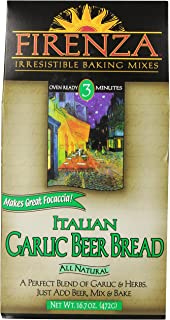 Firenza Italian Garlic Beer Bread Mix, 16.7 Ounce