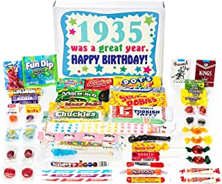 Woodstock Candy ~ 1935 84th Birthday Gift Box of Nostalgic Retro Candy Mix from Childhood for 84 Year Old Man or Woman Born 1935