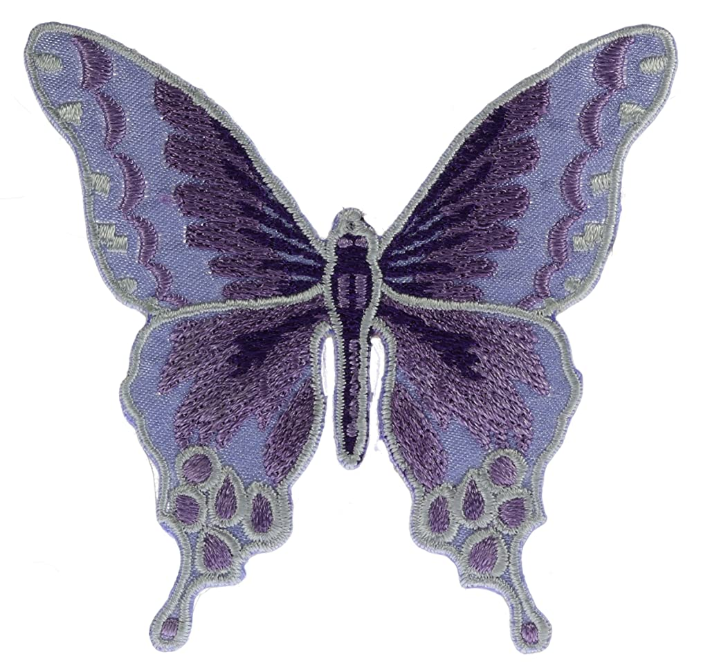 Purple Sheen Butterfly Patch 3 inch Patch AKPT1042