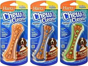 Hartz Chew N' Clean Dental Duo Dog Chew Toy Bacon Flavor, Medium 1 ea